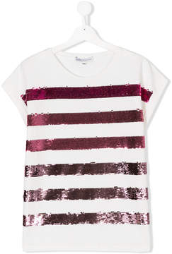 Patrizia Pepe Junior TEEN sequin embellished T-shirt