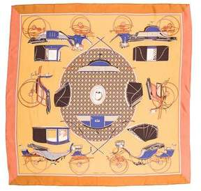 Hermes Les Voitures a Transformation Silk Scarf