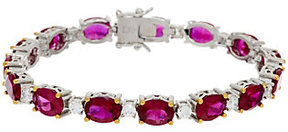 Elizabeth Taylor As Is The 12.0cttw Simulated Ruby Tennis Bracelet