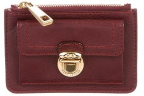 Marc Jacobs Leather Zip Pouch - BURGUNDY - STYLE
