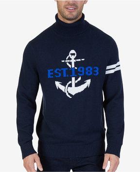 Nautica Men's Intarsia Anchor Turtleneck Sweater