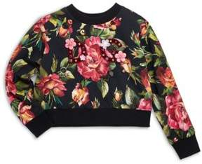 Dolce & Gabbana Toddler's, Little Girl's& Girl's Floral Cotton Sweatshirt