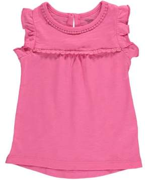 Carter's Baby Clothing Outfit Girls Ruffle-Sleeve Tank Top Pink