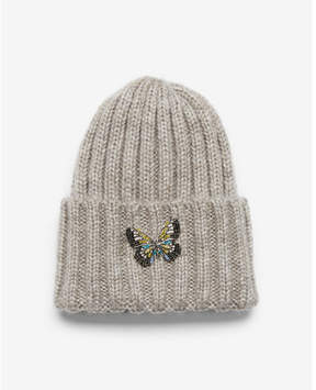 Express chunky ribbed butterfly beanie