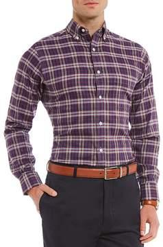 Daniel Cremieux Signature Slim-Fit Heather Check Long-Sleeve Woven Shirt