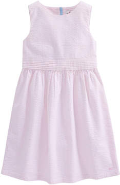 Vineyard Vines Girls Seersucker Bow Dress