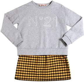 N°21 Cotton Sweatshirt W/ Flannel