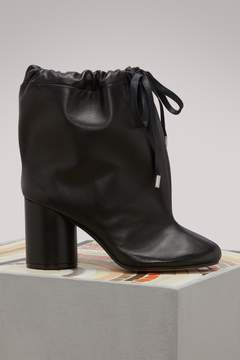 Maison Margiela Leather ankle boots with drawstring