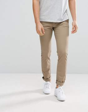 Celio Straight Fit Chinos In Tan