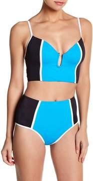 Ach'e A Che' Tabitha High Waist Colorblock Bikini Bottom