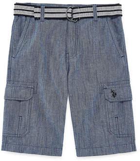 U.S. Polo Assn. USPA Chambray Cargo Shorts - Big Kid Boys