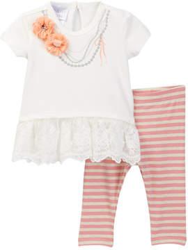 Iris & Ivy Screen Print Necklace Set (Baby Girls 0-9M)
