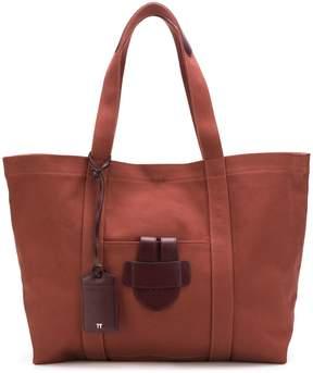 Tila March leather trim tote