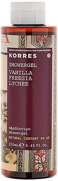 Korres Vanilla Freesia Shower Gel.