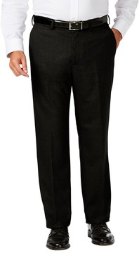 Haggar Big & Tall J.M. Premium Classic-Fit Stretch Sharkskin Flat-Front Dress Pants