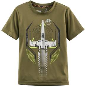 Disney Boys 4-7x Star Wars a Collection for Kohl's Death Star Ship Glow-in-the-Dark Graphic Tee