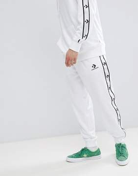 Converse Joggers With Taped Side Stripes In White 10007592-A04