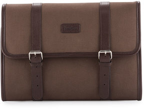 Neiman Marcus Hanging Toiletry Kit, Brown