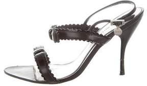 Karen Millen Leather Slingback Sandals