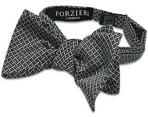 Forzieri Printed Silk Self-tie Bowtie