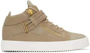 Giuseppe Zanotti Beige May London High-Top Sneakers