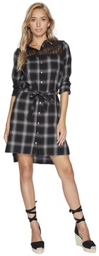 Bishop + Young Plaid Shirt Dress Women's Dress