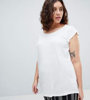 Brave Soul Plus Lisbon Frill Sleeve T Shirt