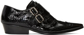 Haider Ackermann Black Monk Strap Slide Loafers