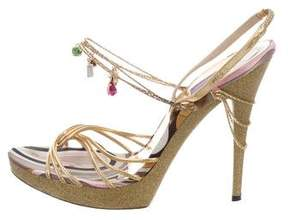 Emilio Pucci Jewel Embellished Sandals