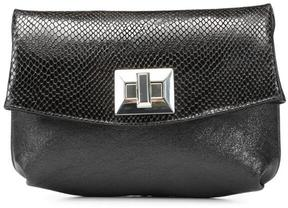 Women's TASSI - Crackled Metallic Leather Clutch