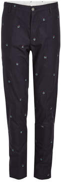 Kenzo Embroidered Cotton Pants