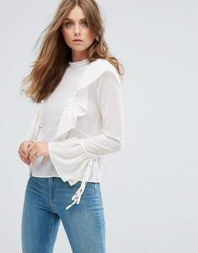 Cotton Candy Frill Detail Top