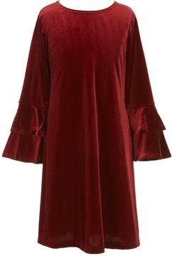Copper Key Big Girls 7-14 Bell-Sleeve Velvet Dress