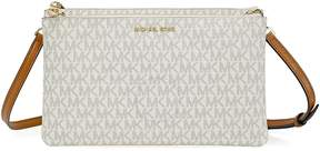 Michael Kors Adele Double Gusset Signature Crossbody - Vanilla - ONE COLOR - STYLE