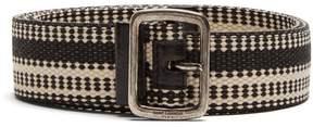 Saint Laurent Leather-trimmed belt