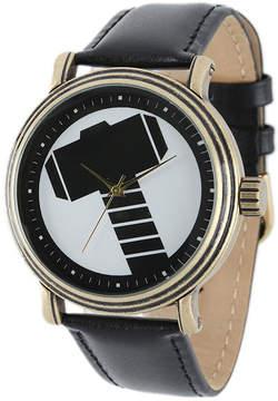 Marvel Vintage Thor Mens Black Leather Strap Watch