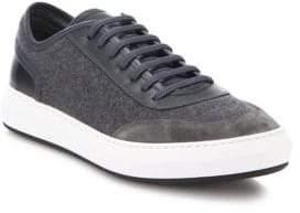 Salvatore Ferragamo Glory Mix Media Low Top Leather& Wool Sneaker