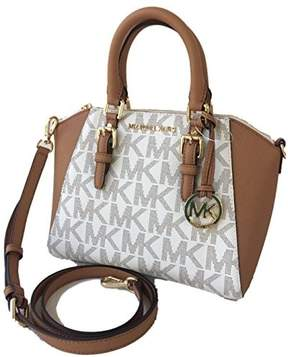 Michael Kors Ciara Medium Messanger Crossbody Bag Logo Vanilla Acorn - VANILLA AND BROWN - STYLE
