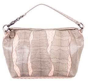 Bottega Veneta Small Snakeskin Intrecciato Bag