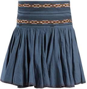 Etoile Isabel Marant Breeda embroidered gathered cotton skirt