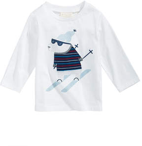 First Impressions Ski Bear-Print Cotton T-Shirt, Baby Boys (0-24 months), Created for Macy's