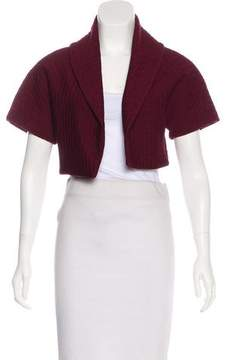 Alaia Cropped Textured Cardigan