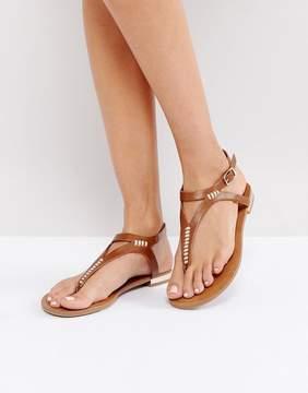 Call it SPRING Niwiel Tan Toe Post Flat Sandals