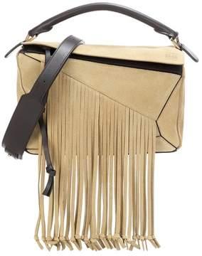 Loewe Puzzle Fringes suede shoulder bag