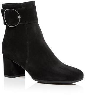 La Canadienne Women's Jackey Waterproof Suede Block Heel Booties