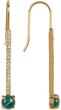 Botkier Dangling Pave Semi-Precious Stone Bar Earrings