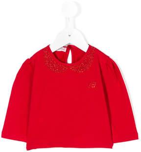 Miss Blumarine embellished blouse