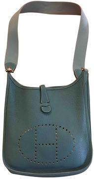 Hermes Evelyne leather handbag - BLUE - STYLE