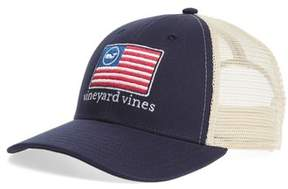 Vineyard Vines Men's Whale Flag Line Trucker Cap - Blue
