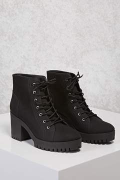 Forever 21 Canvas Lug Ankle Boots